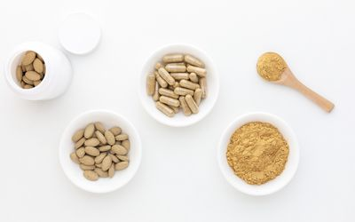 Triphala capsules, tablets, and powder