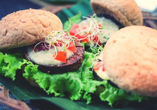 Close-Up of veggie Burgers
