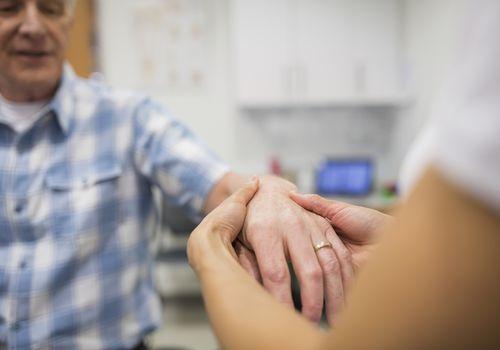 Arthritic wrist of a man