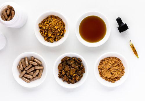 Corydalis capsules, dried root, tea, tincture, and powder