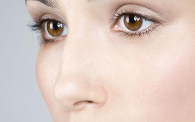 Close up of a female nose.