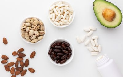 Beta-Sitosterol capsules, tablets, avocado, almonds, and pistachio nuts
