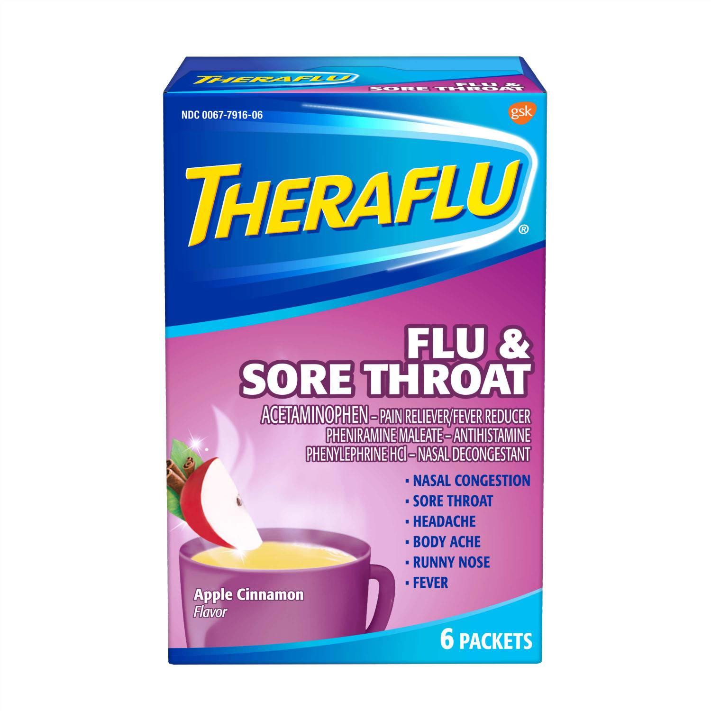 Best For Fever Theraflu Flu Sore Throat Le Cinnamon Hot Liquid Powder