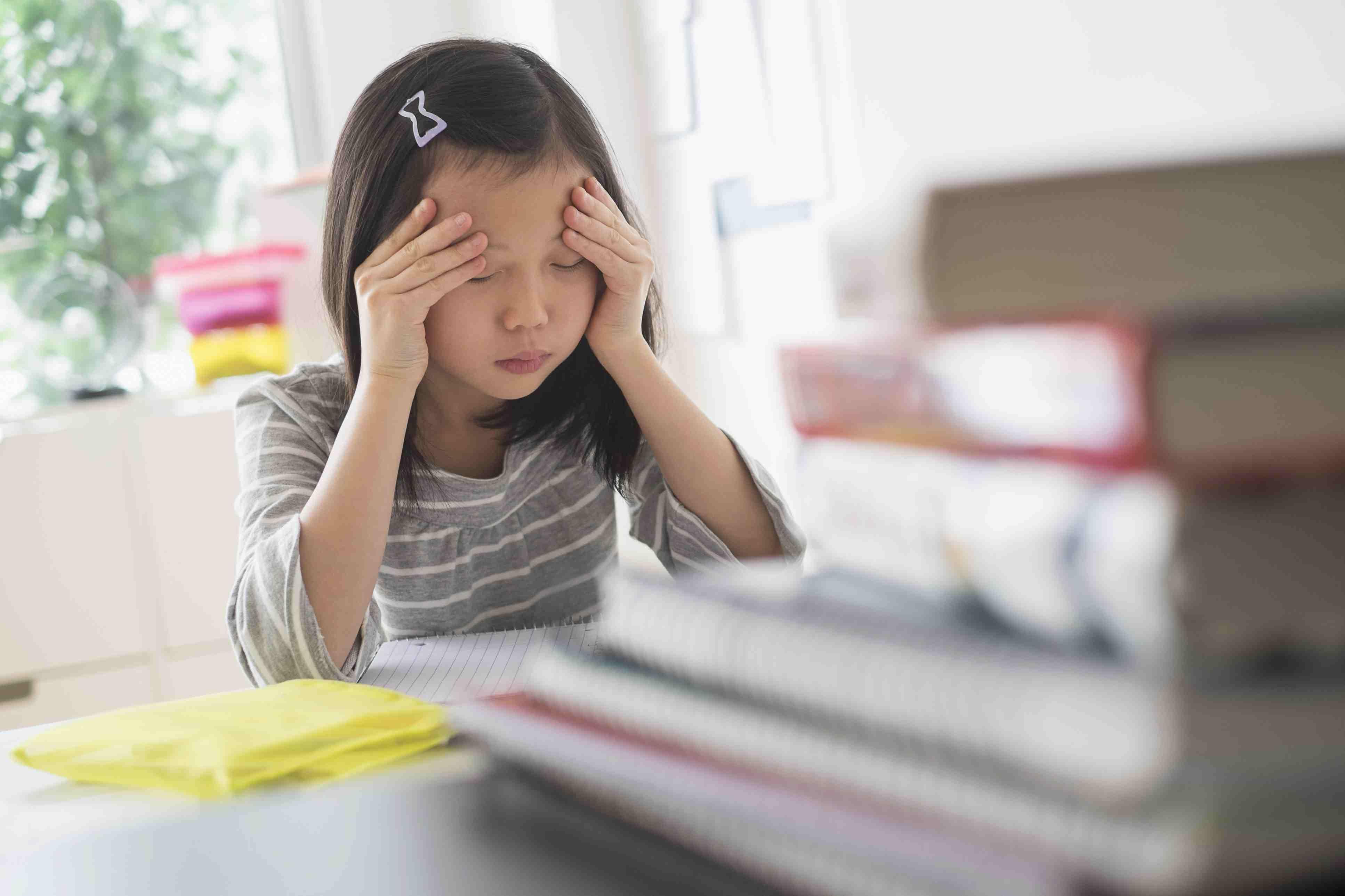Girl with a headache