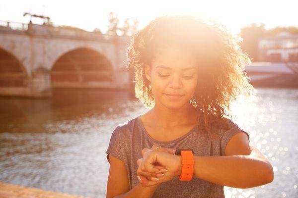 Woman Wearing Fitness Tracker