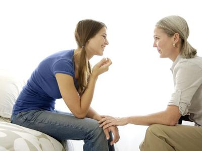 Mother Talking with Teenage Daughter