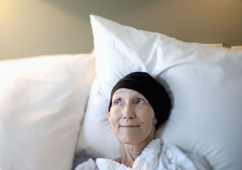 Cancer patient in hospice care