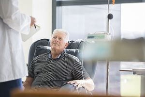 Man Receiving IV Infusion