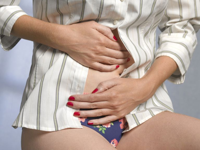 Woman with irritable bowel syndrome