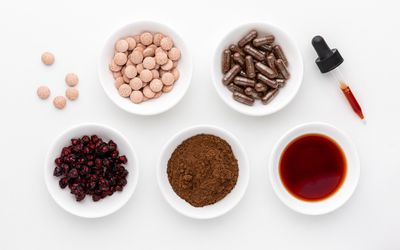 Schisandra dried berries, tablets, capsules, powder, and extract