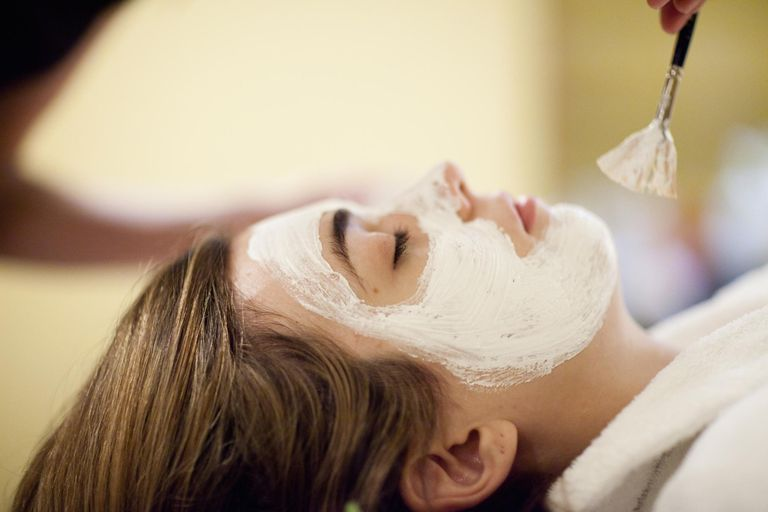 Getting a facial with acne-8719