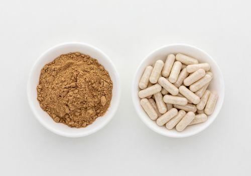 Guarana capsules and powder