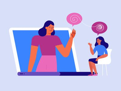 Illustration of online therapy.