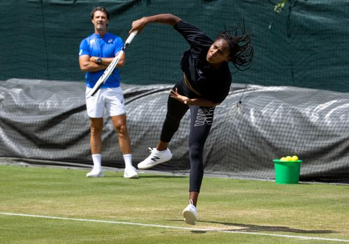 Coco Gauff at the Aorangi Practice Courts during The Championships