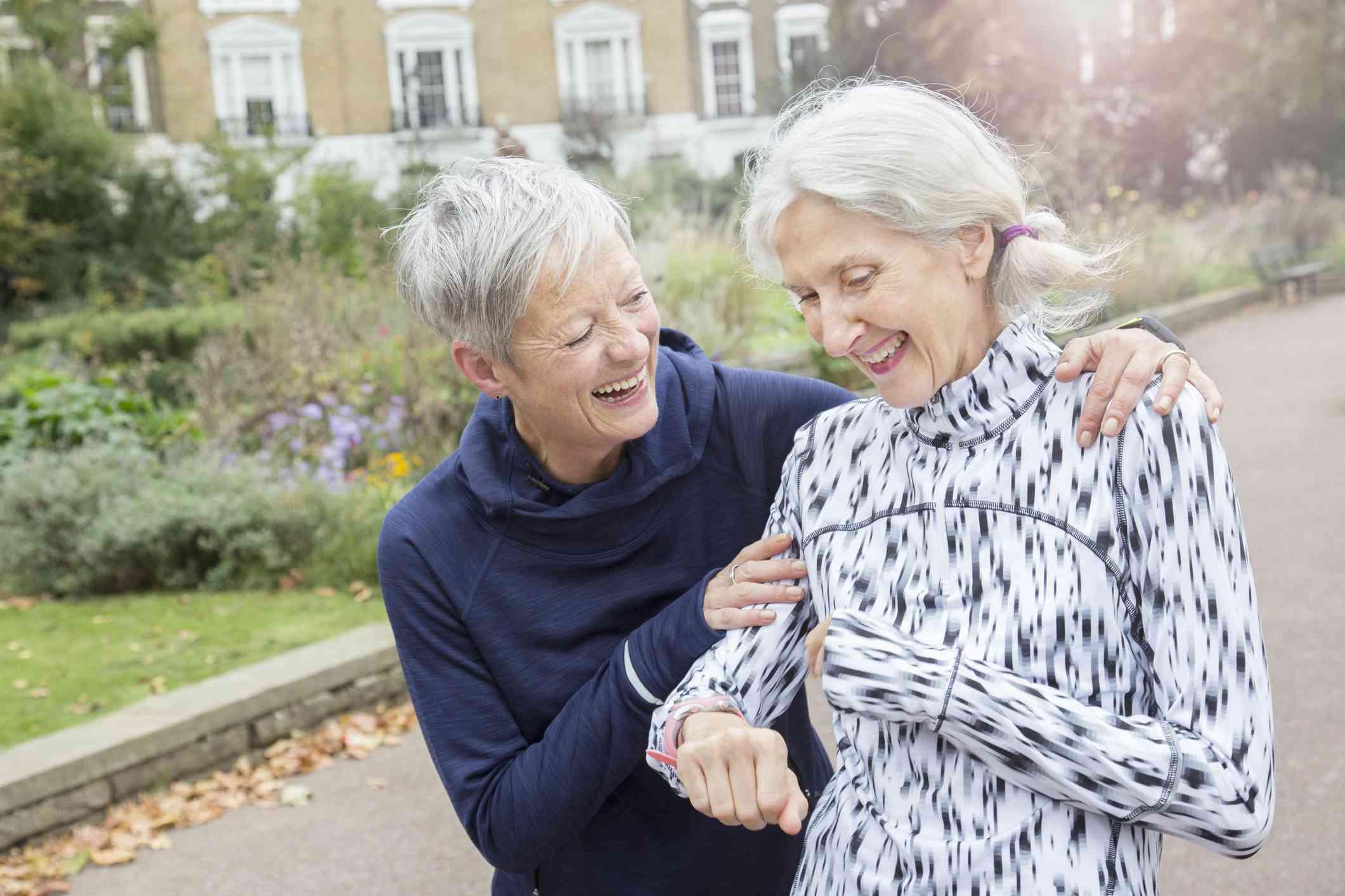 Older women laughing