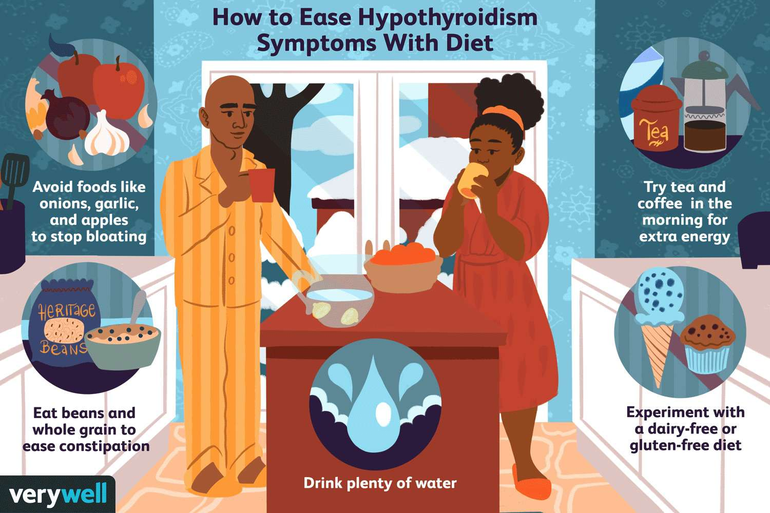 how to ease hypothyroidism symptoms with diet