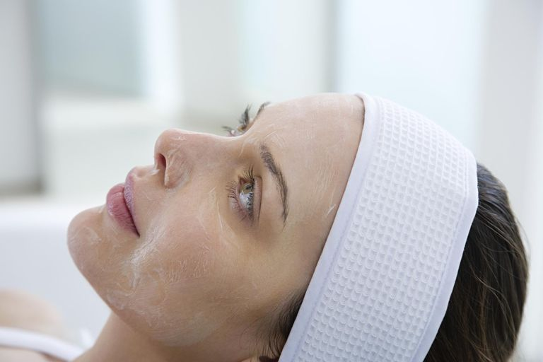 woman getting a chemical peel