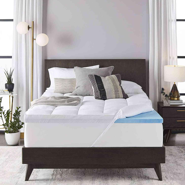 Sleep Innovations 4-inch Dual Layer Gel Memory Foam Mattress Topper