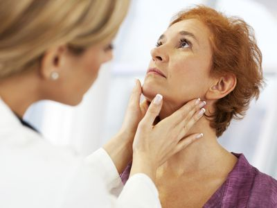 Woman being examined by a doctor