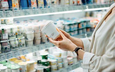 Buying calcium-rich yogurt