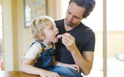 Child receiving antibiotics.