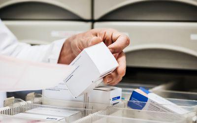 Pharmacist dispensing penicillin VK