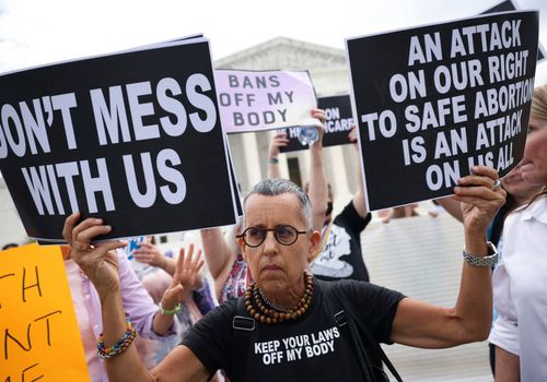 pro-choice protesters at Washington D.C.