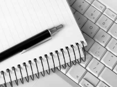 Notepad and keyboard