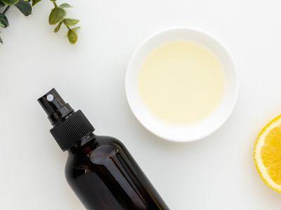 Lemon eucalyptus oil and spray bottle