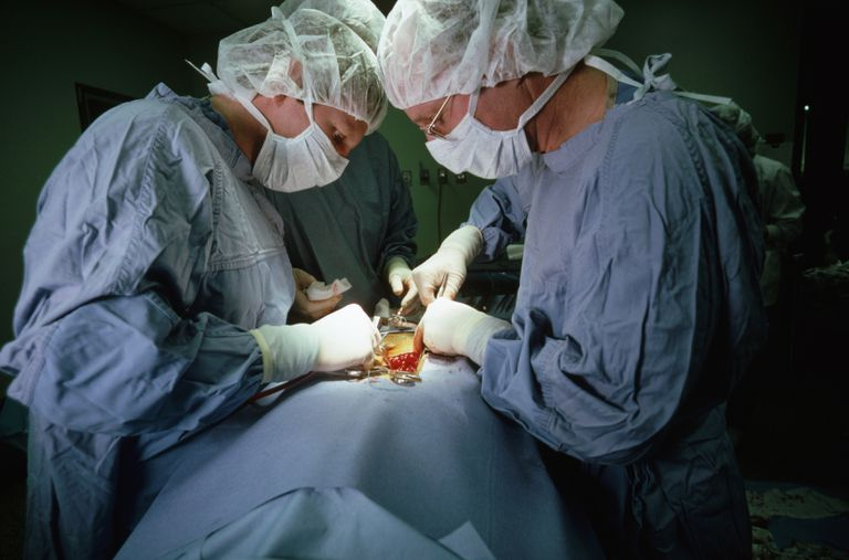 Neurosurgeon Performing Surgery