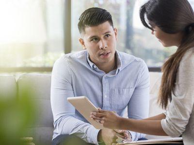 Psychiatrist and patient talking