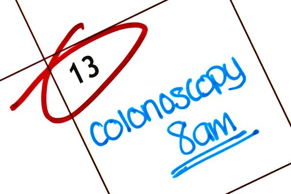 calendar with date for colonoscopy