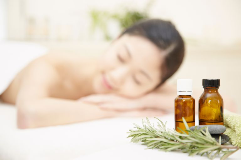 Woman with aromatherapy