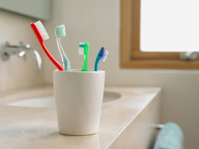 Toothbrush in cup