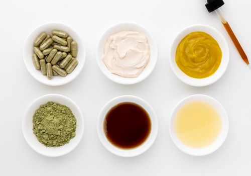 Neem capsules, powder, tincture, oil, and creams