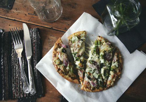 Homemade pizza still life