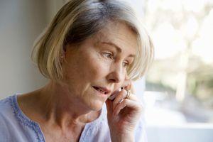Older Woman on Phone