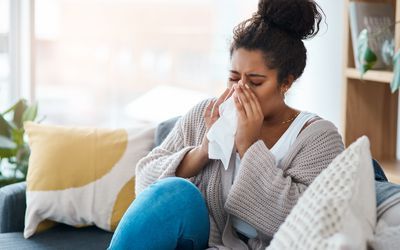 woman with sinus infection
