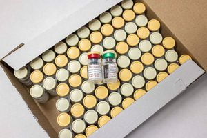vials of malaria vaccine