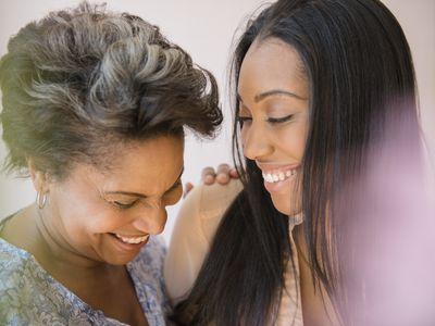 Black women laughing