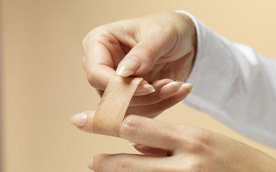 Applying a band-aid