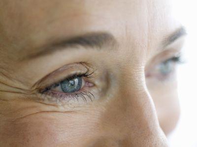 Close-up of senior woman's eyes