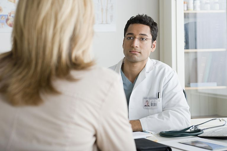 USA, California, Los Angeles, Doctor listening to patient