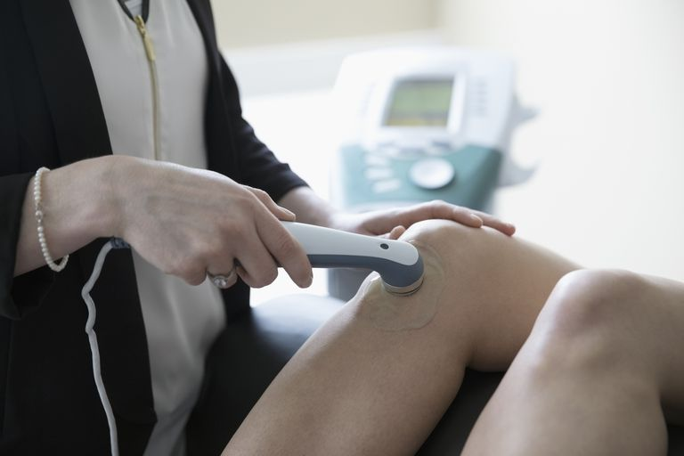 A person receiving ultrasound therapy