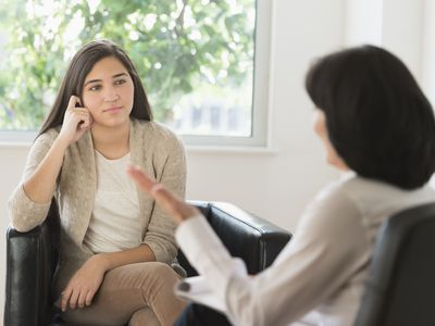 teenager with therapist