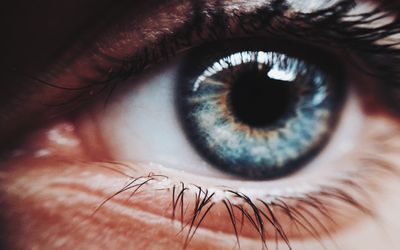 Extreme close-up on a person's eye