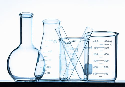 Beakers, flasks, and test tubes