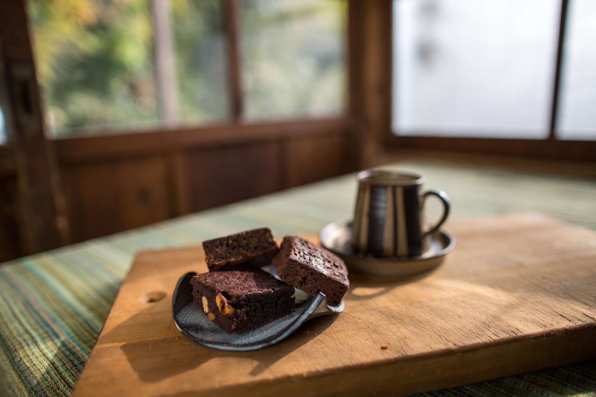 Gluten free brownies on a plate