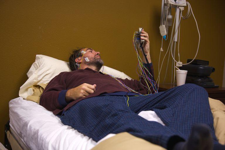 A man involved in a sleep study
