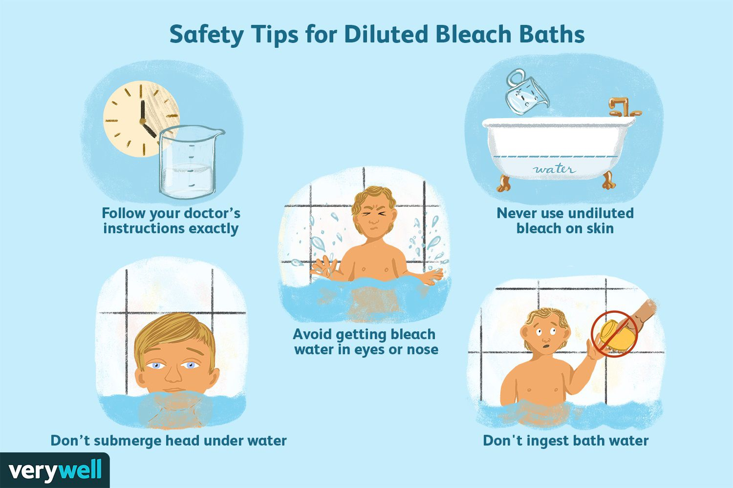 Safety Tips for Diluted Bleach Baths